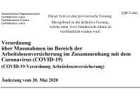 Verordnung Arbeitslosenversicherung